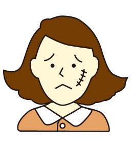 顔面部の線状痕・顔面醜状(外貌醜状)において、255万円の提示額を639万円(約2.5倍)に増額した事例   福岡後遺障害相談 弁護士法人たくみ法律事務所