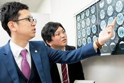 脳のMRIを確認